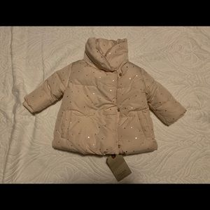 Zara Baby Collection Light Pink w Gold Stars Coat